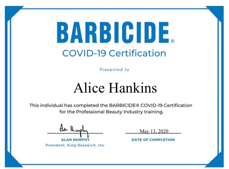 Barbicde Certification